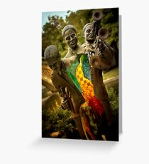 Trumpet Player - New Orleans, Louisiana Greeting Card