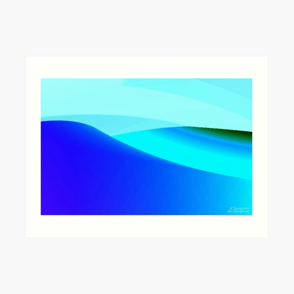 Blue and Green Landscape Art Print