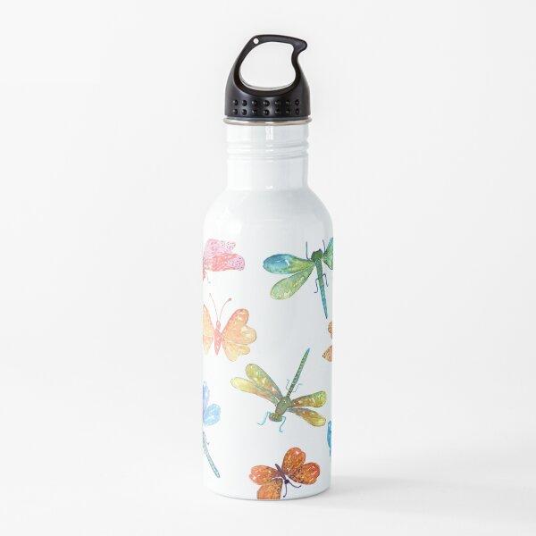 Dragonflies and Butterflies Water Bottle