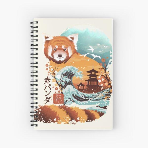Ukiyo e Red Panda Spiral Notebook