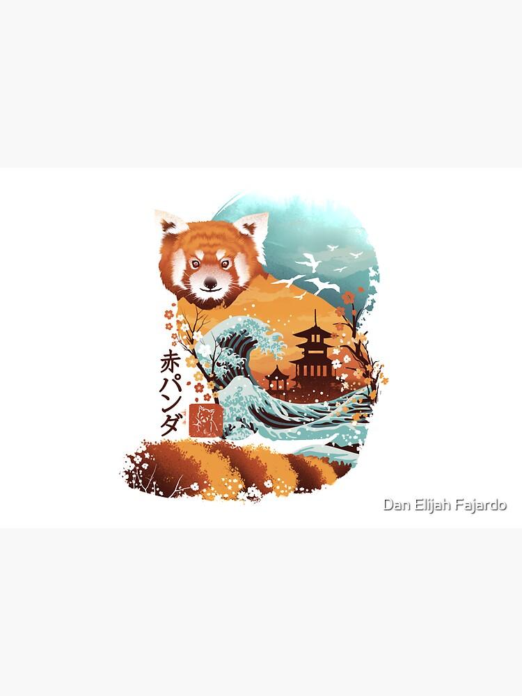 Ukiyo e Red Panda by dandingeroz