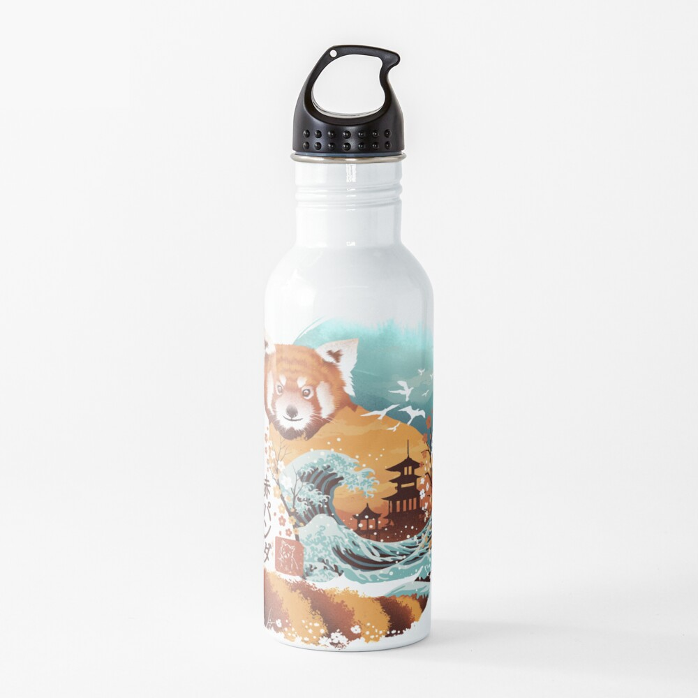 Ukiyo e Red Panda Water Bottle