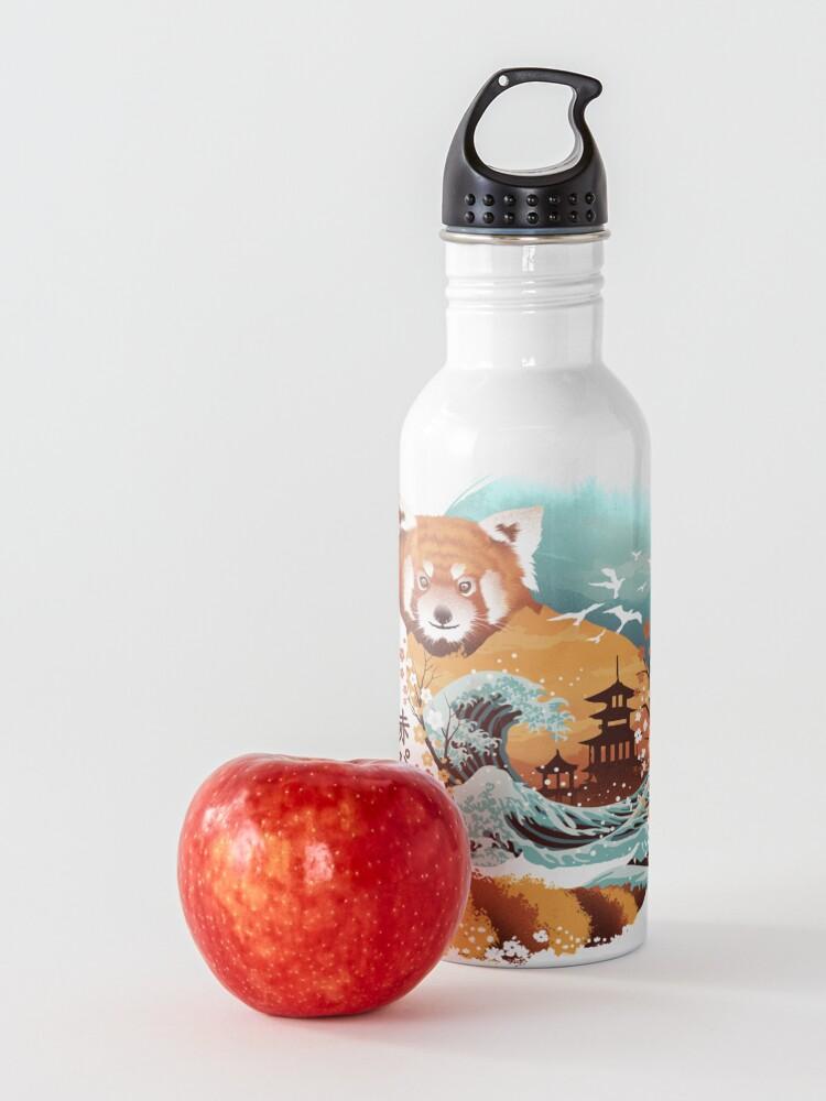 Alternate view of Ukiyo e Red Panda Water Bottle