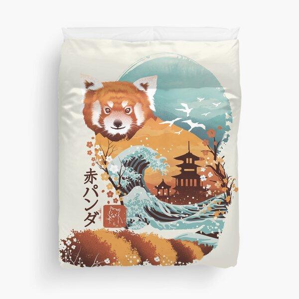 Ukiyo e Red Panda Duvet Cover