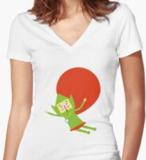 Katamari Tingle Women's Fitted V-Neck T-Shirt