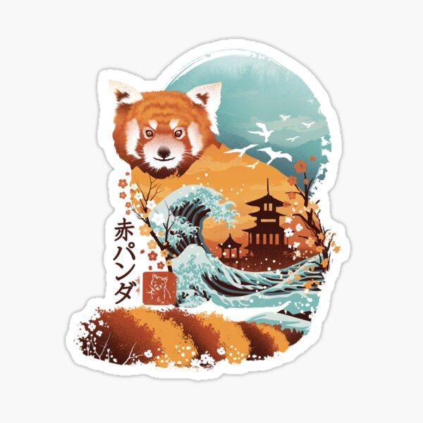 Ukiyo e Red Panda Sticker