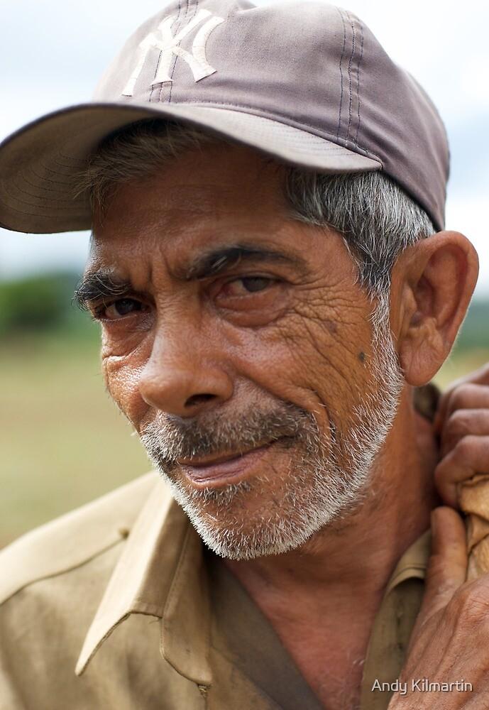 Pig farmer, Vinales, Cuba. by Andy Kilmartin