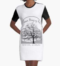Haunted Sketoe Hanging Hole Graphic T-Shirt Dress