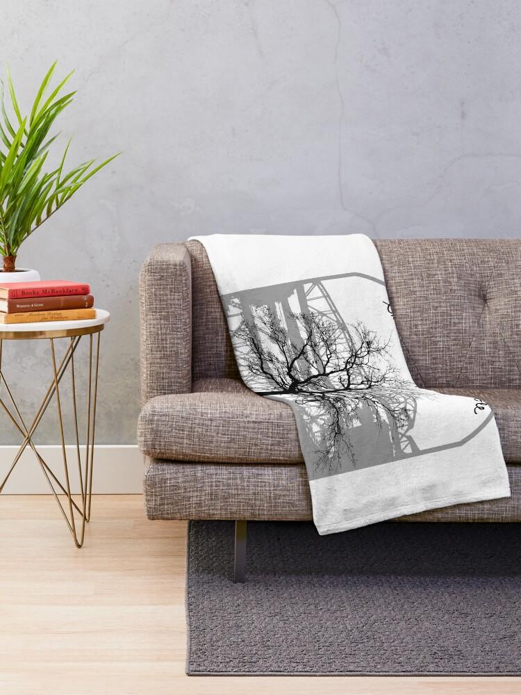 Alternate view of Haunted Sketoe Hanging Hole Throw Blanket
