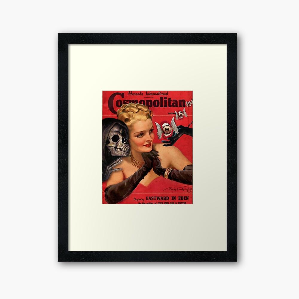 Over your shoulder Framed Art Print