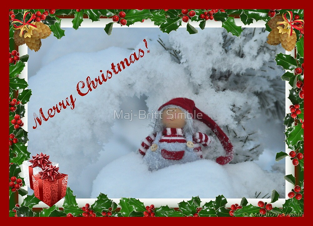Merry Christmas - card5  :-) by Maj-Britt Simble