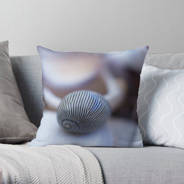 Shell Stripe Throw Pillow