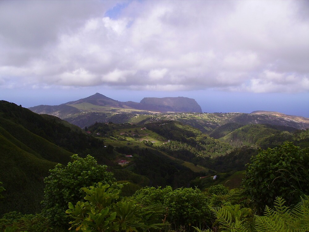 The view from Dianas Peak, St helena by dizzyshell42