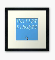 Twitter Fingers Framed Print