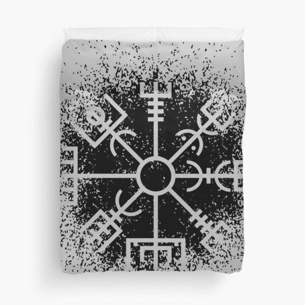 Vegvisir Black Spray Duvet Cover