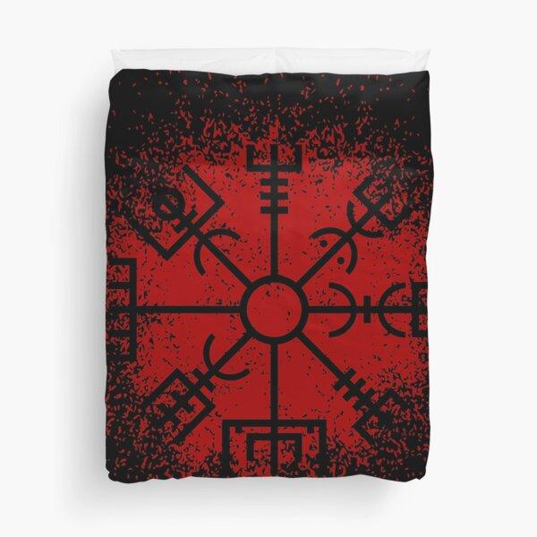 Vegvisir Red Spray Duvet Cover