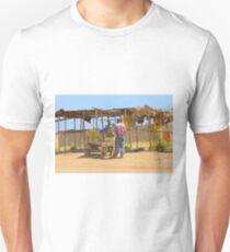 Street vender in Nairobi, KENYA Slim Fit T-Shirt