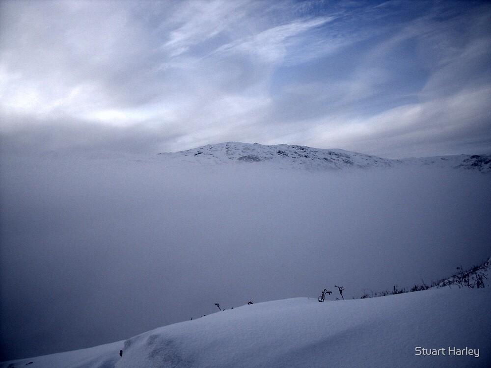 Wispy Cloud on Peaceful Peak  by Stuart Harley