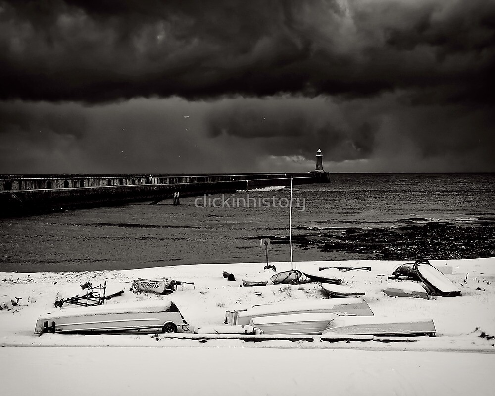 Fleet of snow under heavy skies by clickinhistory