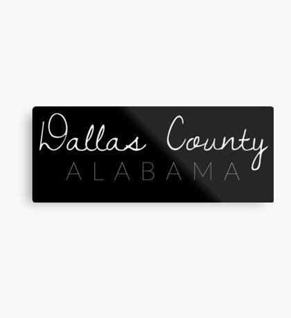Dallas County, Alabama Metal Print