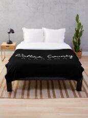 Dallas County, Alabama Throw Blanket