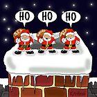 Attack of the Mini-Santas! by Kev Moore