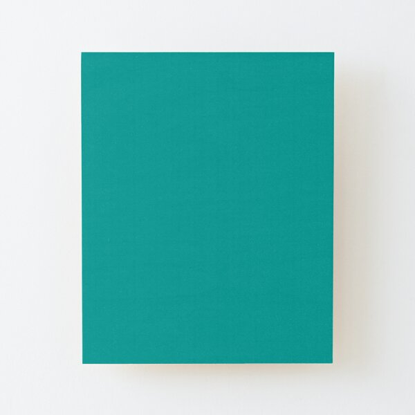 Teal   Teal Green   Solid Color    Wood Mounted Print