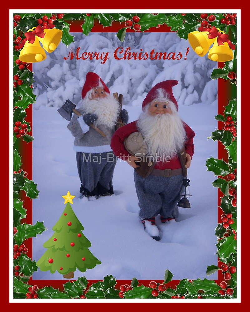 Merry Christmas - card10  :-) by Maj-Britt Simble