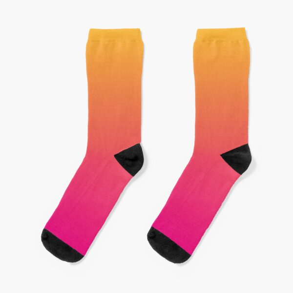 Ombre | Gradient Colors | Orange and Pink |  Socks