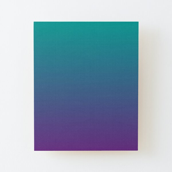 Ombre | Gradient Colors | Teal and Purple |  Wood Mounted Print