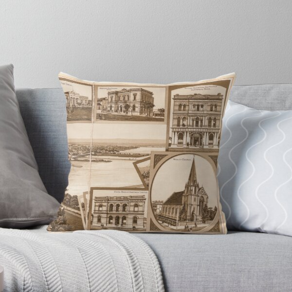Western Australia general view of Perth from the State Library of Western Australia Throw Pillow
