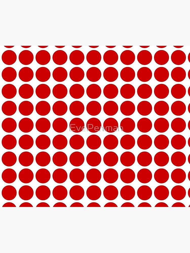 Red Dots Pattern Red & White by EvePenman