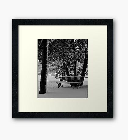 Broken Bench Framed Print