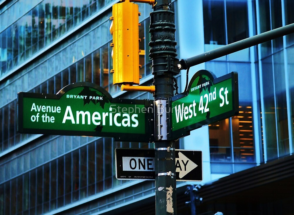 42nd Street / Avenue of the Americas by Stephen Burke