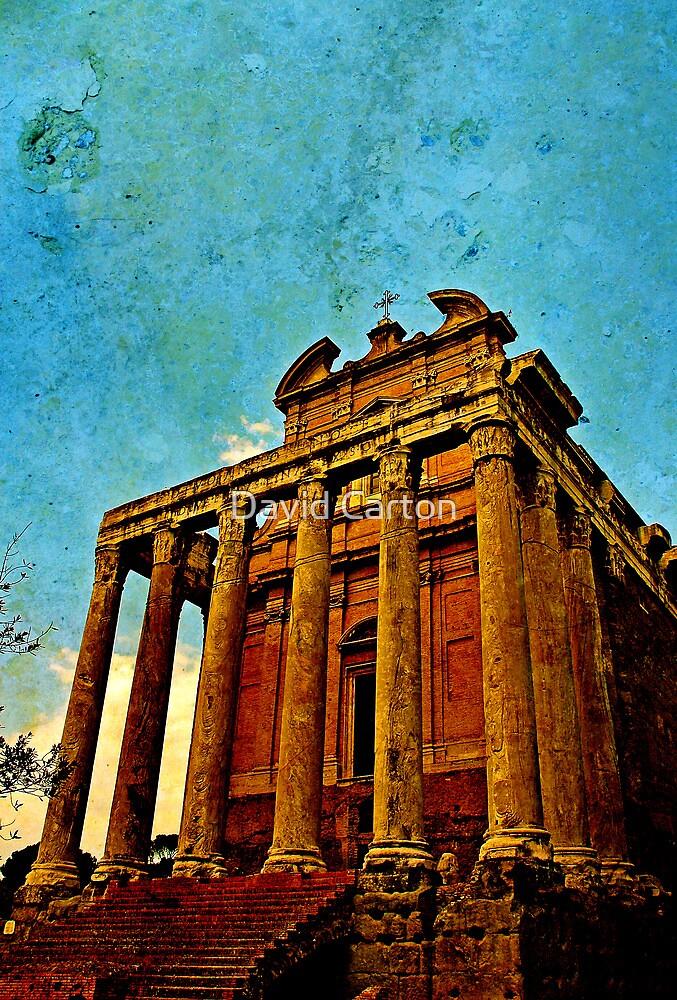 Temple of Antoninus & Faustina, Rome, Italy by David Carton