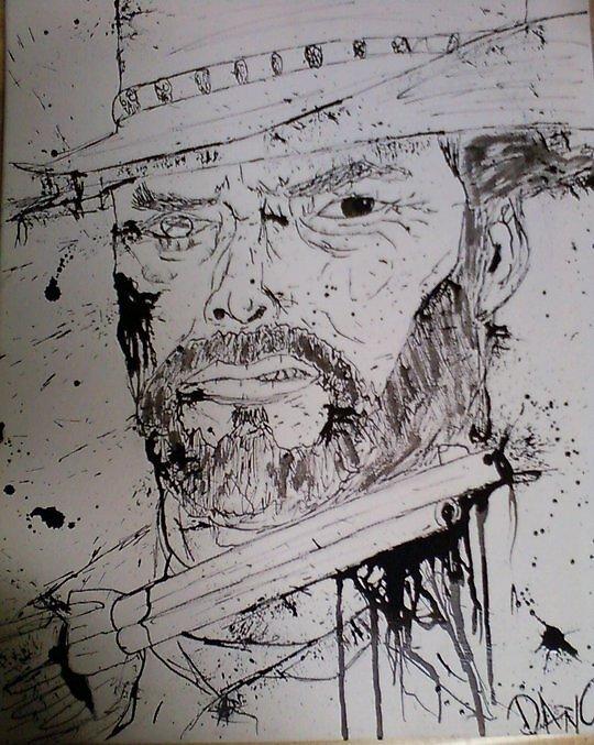zombie clint eastwood by Dan Colella