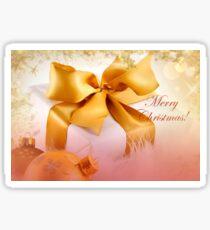 Decorative Christmas Design In Golden Tones Sticker