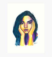 Expressive Color Study Art Print