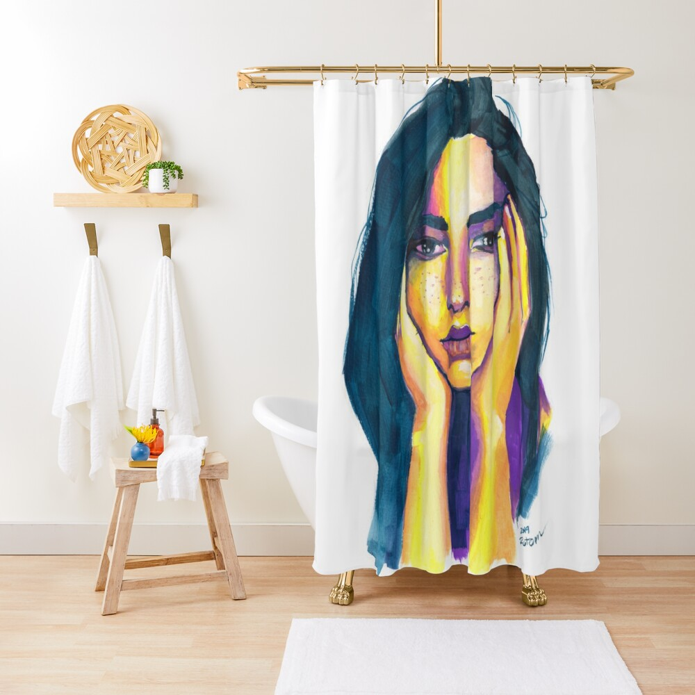 Expressive Color Study Shower Curtain