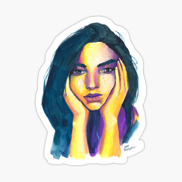 Expressive Color Study Sticker