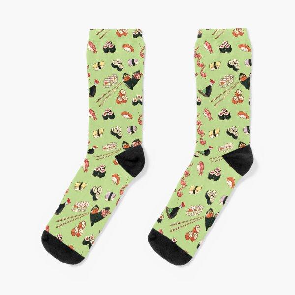 Sushi on Wasabi Green Socks