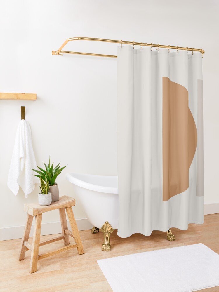 Alternate view of Contemporary Composition 16 Shower Curtain