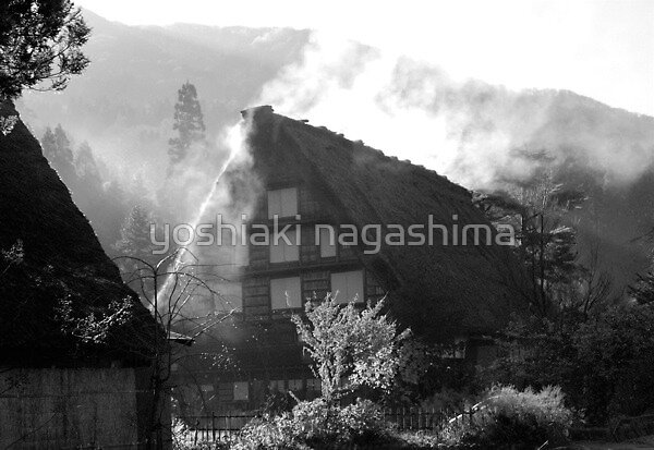 Morning Steam house (1), Sirakawago JAPAN by yoshiaki nagashima