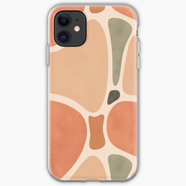Terracotta Shapes #redbubble #abstractart iPhone Soft Case