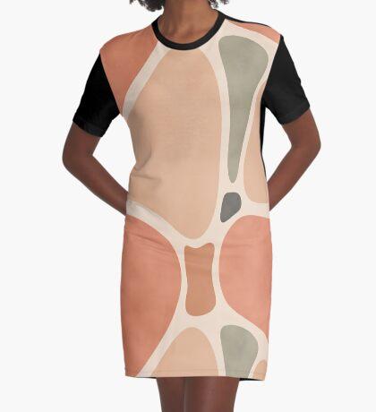 Terracotta Shapes #redbubble #abstractart Graphic T-Shirt Dress