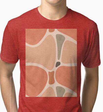 Terracotta Shapes #redbubble #abstractart Tri-blend T-Shirt