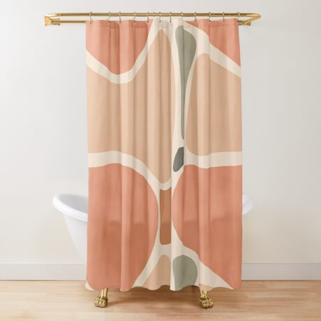 Terracotta Shapes #redbubble #abstractart Shower Curtain