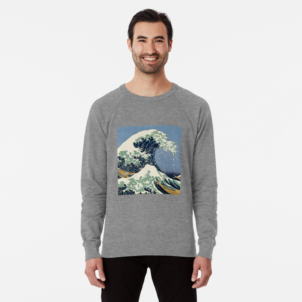 The Great Wave by Katsushika Hokusai Lightweight Sweatshirt