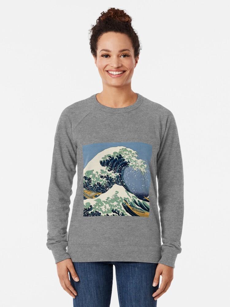 Alternate view of The Great Wave by Katsushika Hokusai Lightweight Sweatshirt