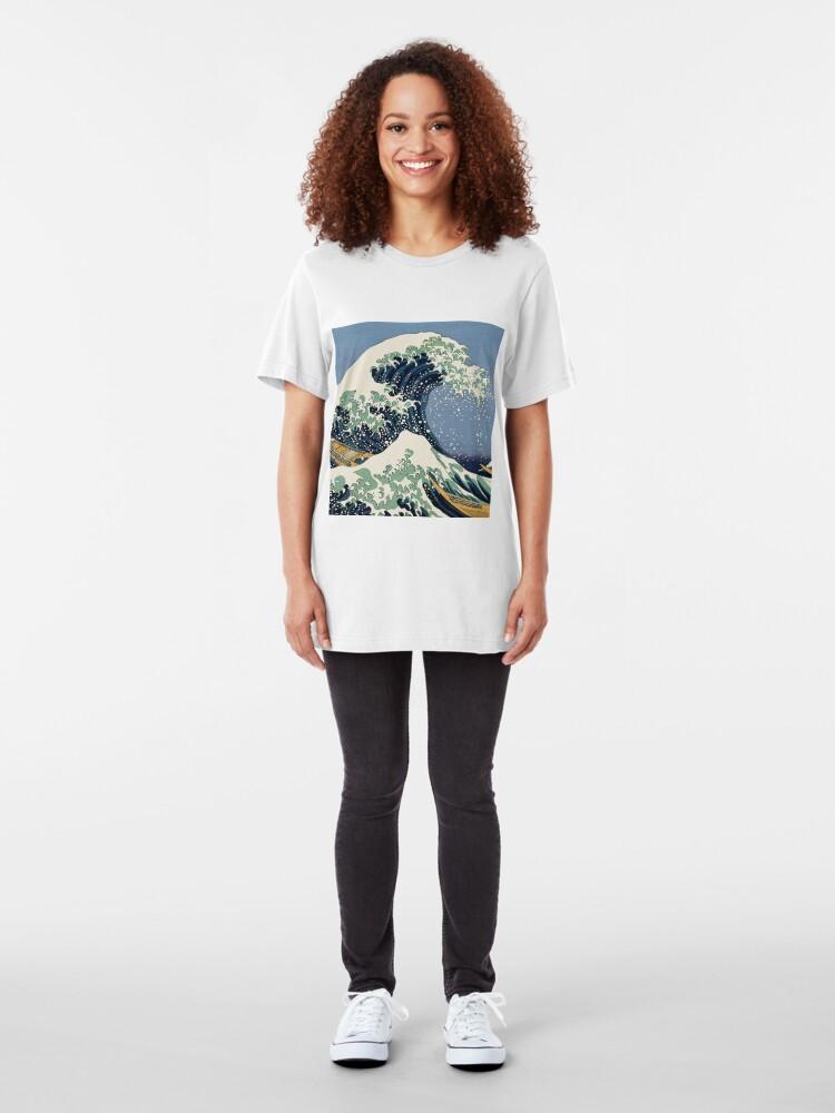 Alternate view of The Great Wave by Katsushika Hokusai Slim Fit T-Shirt